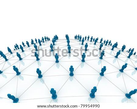Social network - stock photo