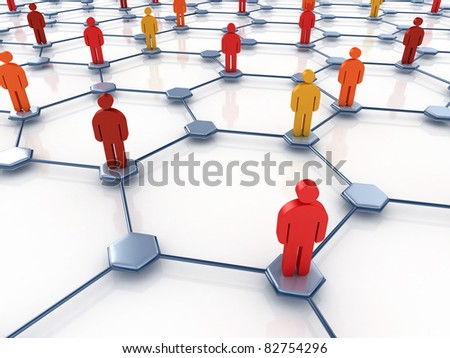 social network abstract - stock photo