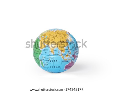 """social network and globe on white background """"Elements of this image furnished by NASA"""" - stock photo"""