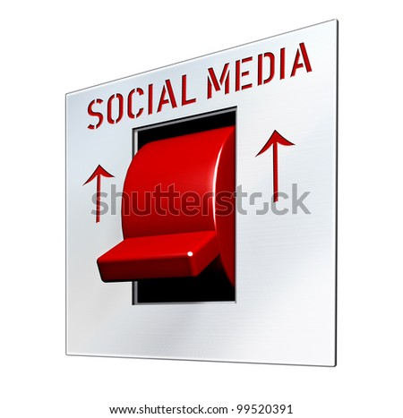 social network and media concept, switch isolated - stock photo