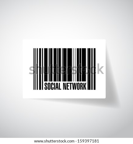 social network barcode upc. illustration design graphic - stock photo