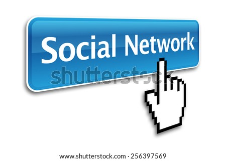 Social network button and hand cursor