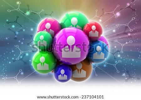 Social network concept - stock photo