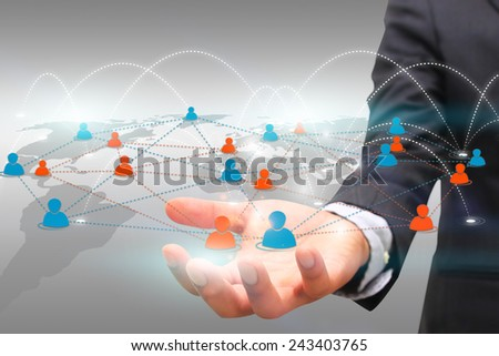 Social network concept. - stock photo