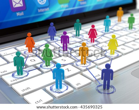 Social network concept. 3d rendering - stock photo