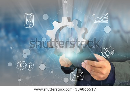 Social network concept.globalization business. - stock photo
