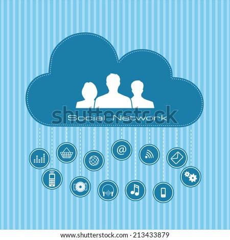 Social  network connection concept - stock photo