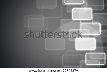 social network gray background. - stock photo