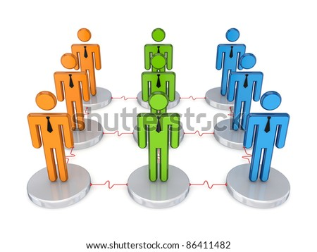 Social network.Isolated on white background.3d rendered.