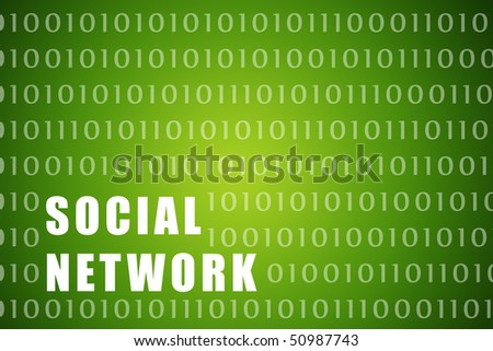 Social Network on a Digital Tech Background