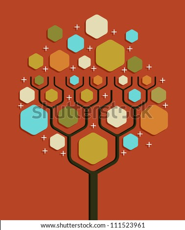 Social network tree business blank diagram layout. - stock photo