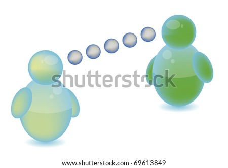 Social networking - stock photo