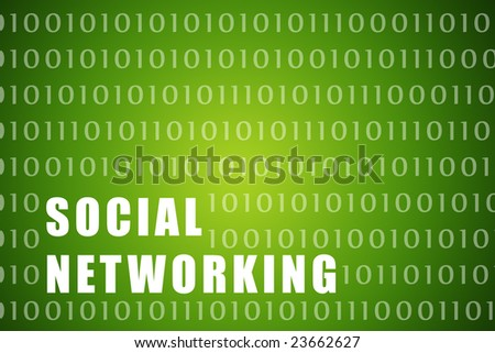 Social Networking Abstract Background with Internet Network