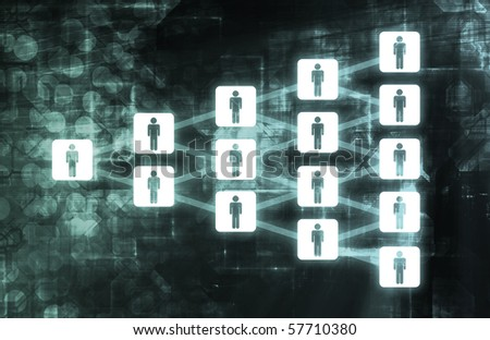 Social Networking Growth of Web Users - stock photo