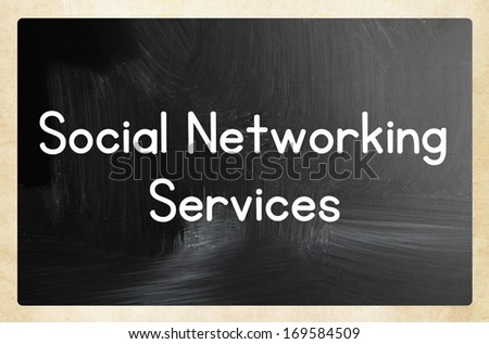 social networking services - stock photo