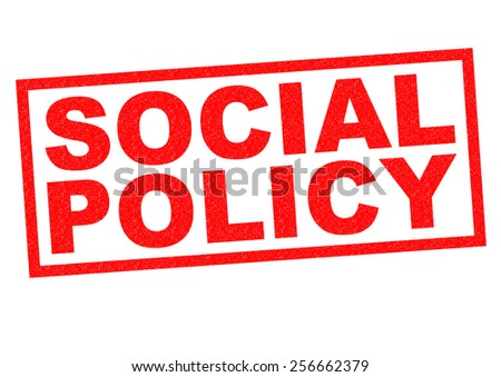 SOCIAL POLICY red Rubber Stamp over a white background. - stock photo
