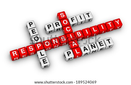 social responsibility crossword puzzle - stock photo