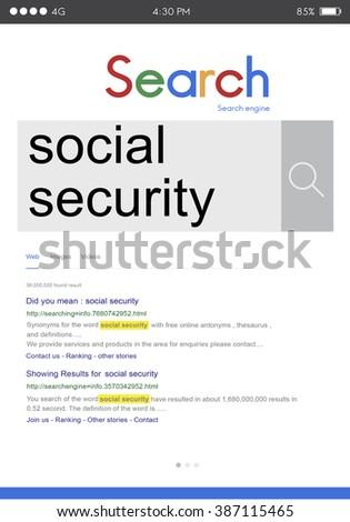 Social Security Benefit Pension Welfare Retirement Concept - stock photo