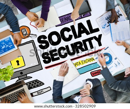 Social Security Welfare Retirement Payment Concept - stock photo