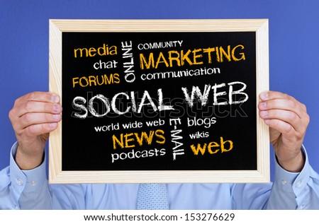 Social Web - stock photo