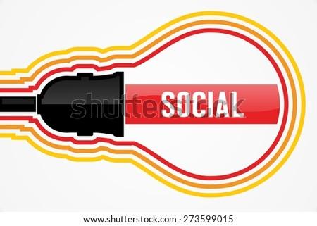 SOCIAL word in lightbulb concept - stock photo