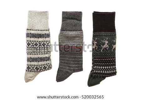 Sock for clothing isolated on white background