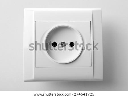 Socket isolated on white - stock photo