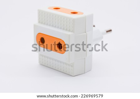 socket on the white background