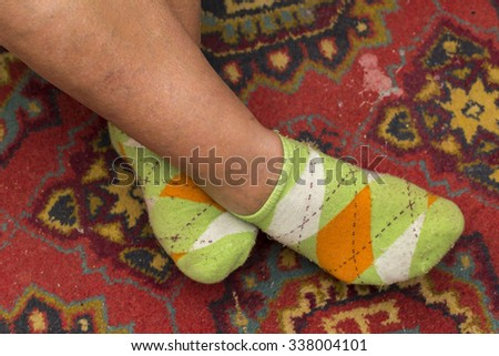 socks on the white background - stock photo