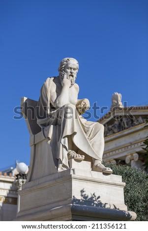 Socrates,ancient greek philosopher - stock photo