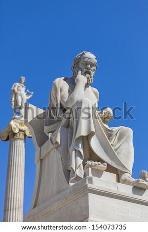 Socrates, classical Greek Athenian philosopher  - stock photo