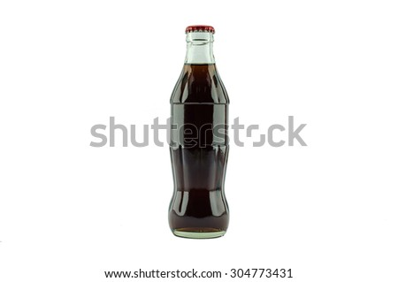 soda bottle Isolated on white background. - stock photo
