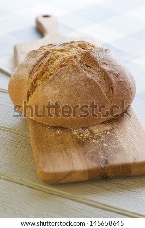 Soda Bread Cob - stock photo