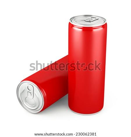 Soda Cans isolated on white background - stock photo