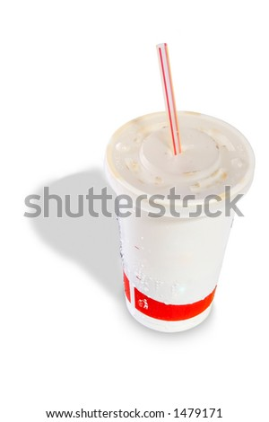 Soda Cup Isolated on white background - stock photo