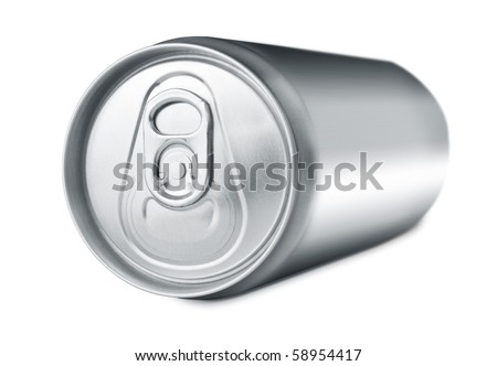 Soda drink can lying - stock photo