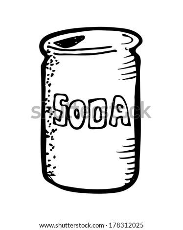 soda drink cartoon doodle - stock photo