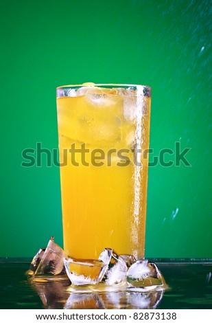 Soda Glass - stock photo