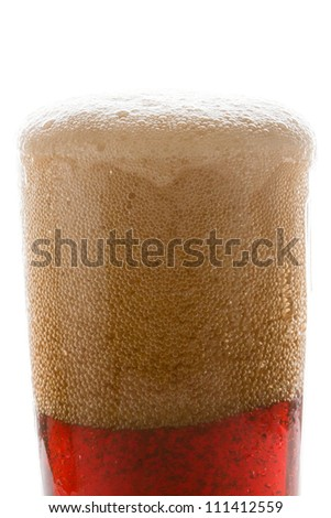 Soda in a glass - stock photo