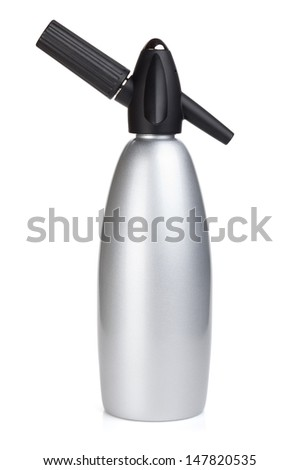 Soda siphon. Isolated on white background - stock photo