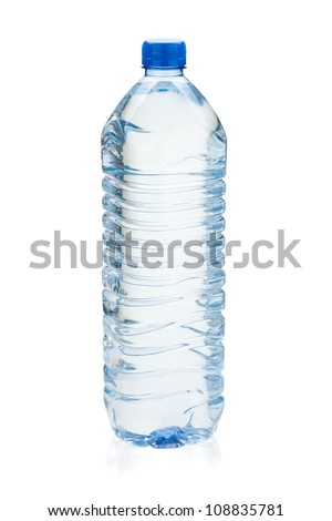 Soda water bottle. Isolated on white background - stock photo