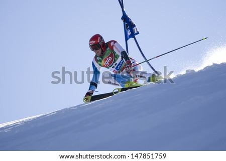 SOELDEN AUSTRIA OCT 26, Marc Gini SUI  competing in the mens giant slalom race at the Rettenbach Glacier Soelden Austria, the opening race of the 2008/09 Audi FIS Alpine Ski World Cup