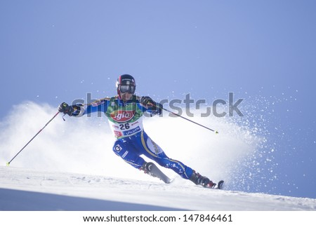 SOELDEN AUSTRIA OCT 26, Markus Larsson SWE  competing in the mens giant slalom race at the Rettenbach Glacier Soelden Austria, the opening race of the 2008/09 Audi FIS Alpine Ski World Cup