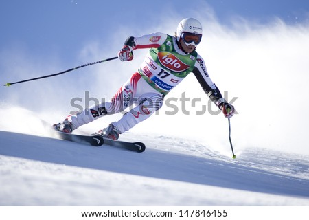 SOELDEN AUSTRIA OCT 26, Rainer SCHOENFELDER AUT  competing in the mens giant slalom race at the Rettenbach Glacier Soelden Austria, the opening race of the 2008/09 Audi FIS Alpine Ski World Cup