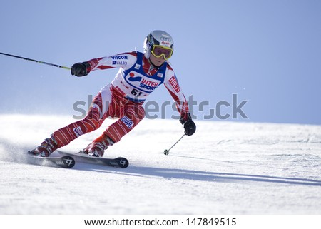 SOELDEN AUSTRIA OCT 25, Sanni Leinonen FIN  competing in the womens giant slalom race at the Rettenbach Glacier Soelden Austria, the opening race of the 2008/09 Audi FIS Alpine Ski World Cup