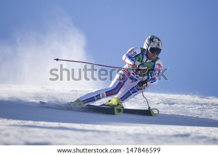 SOELDEN AUSTRIA OCT 26, Thomas Fanara FRA  competing in the mens giant slalom race at the Rettenbach Glacier Soelden Austria, the opening race of the 2008/09 Audi FIS Alpine Ski World Cup