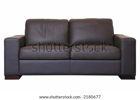 Sofa black detail isolated on black background with path - stock photo