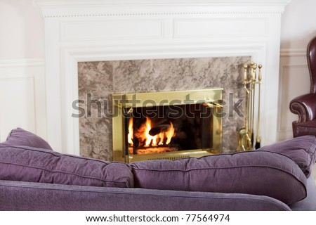 Sofa by the fire