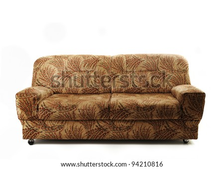 Sofa couch isolated - stock photo