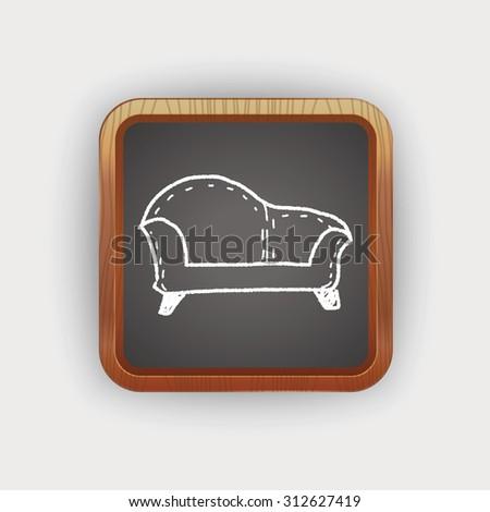 sofa doodle - stock photo